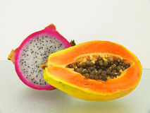 Two tropic fruits Stock Image