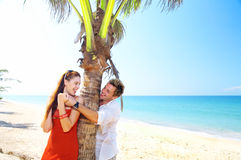 Two and tropic scene Stock Photos