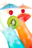 Two tropical alcohol cocktails Royalty Free Stock Photography