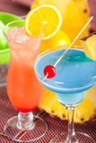 Two tropical cocktails Stock Image