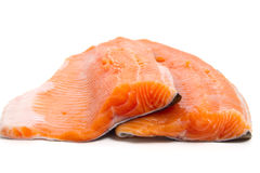 Two trout fillets Royalty Free Stock Photos