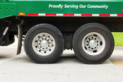 Two truck wheels Royalty Free Stock Photography