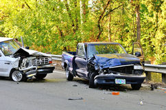 Two Truck Wreck Stock Photography