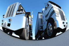 Two trucks Royalty Free Stock Image