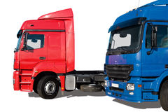 Two trucks stock image