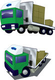 Two trucks from different angles #2 Royalty Free Stock Photos