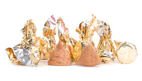 Two truffles and foil Stock Photos