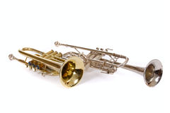 Two trumpets Royalty Free Stock Image