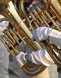 Two Tuba Players Stock Photos