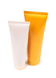Two tubes lotion Royalty Free Stock Photography