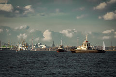 Two tug ships Stock Photography