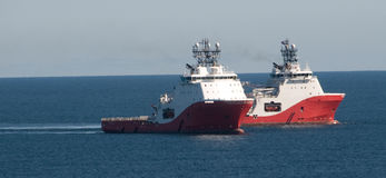 Two Tugs In The Bay Royalty Free Stock Images