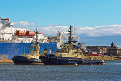 Two Tugs In Port Royalty Free Stock Image