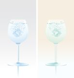 Two tulip glasses Stock Photography