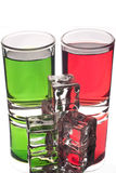 Two tumbler glasses Stock Images