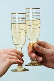 Two tumblers with champaign Royalty Free Stock Photography