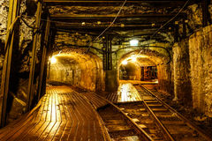Two tunnels in mining area Royalty Free Stock Images