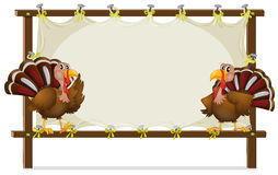 The two turkeys Royalty Free Stock Images