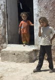 Two Turkish Children. Picture taken in Harran, Turkey, a district of Sanliurfa Province close to the Syrian border. The Turkish government currently operates a royalty free stock photos