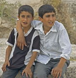 Two Turkish Children. Picture taken in Harran, Turkey, a district of Sanliurfa Province close to the Syrian border. The Turkish government currently operates a stock photography