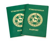 Two Turkmenistan passports Royalty Free Stock Photo