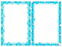 Two turquoise frames royalty free stock image