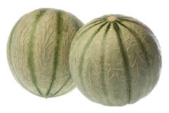 Two Tuscan Style Melons Royalty Free Stock Images