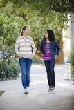 Two Tween Girls walking Royalty Free Stock Photos