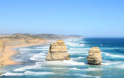 Two of the Twelve Apostles, Australia Stock Images