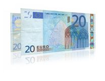 Two twenty Euro notes Stock Photo