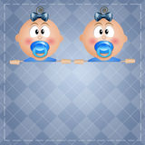 Two twin boys Stock Images