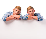Two twin boys Royalty Free Stock Photos