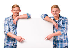 Two twin boys Royalty Free Stock Photography