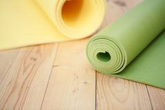 Two twisted mat for fitness Royalty Free Stock Images