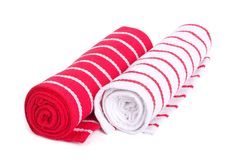 Two twisted striped towels Royalty Free Stock Photography