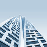 Two twisted towers perspective. 3d render Royalty Free Stock Photos