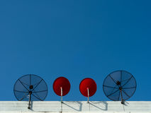 Two type Satellite dish Stock Images