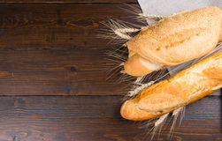 Two types of baguette loaves Stock Photography