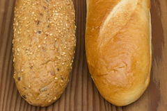 Two types of baguettes Stock Image