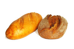 Two types of bread Royalty Free Stock Images