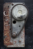 Two types of chains with gears, rust Stock Photography