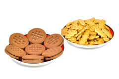 Two types of cookies Stock Image