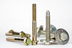 Two types of special purpose bolts Stock Images