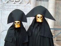 Two typical masks in Venice. A couple of typical masks in Venice during the carnival Stock Image