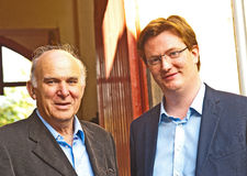 Two UK Government Ministers. Two British  Government Ministers, Vince Cable,  Business Secretary and Danny Alexander Chief Secretary to the Treasury after Royalty Free Stock Photography