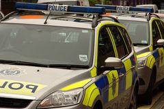 Two UK Police Cars Stock Photography