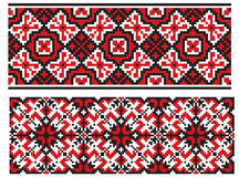 Two ukrainian embroidery Royalty Free Stock Images