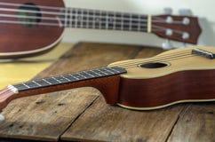 Two ukuleles Stock Photo