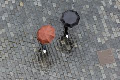Two umbrellas Stock Images