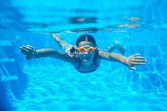 Two underwater girls Stock Photos